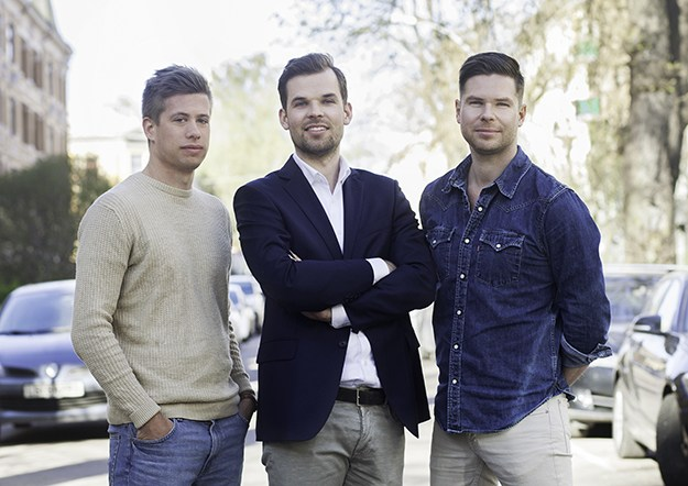 Photo courtesy of Unacast The core team of Unacast from left to right: Martin Abelson Sahlen, Tech lead; Thomas Walle Jensen, Co-founder and CEO; and Kjartan Slette, Co-founder and COO.